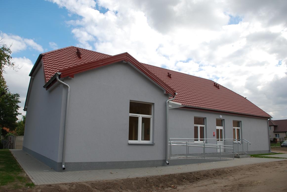 Budowa budynku w miejscowości Krążkowy.